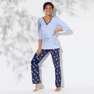 Blancheporte Pyžamo s potiskem vážek modrá 42/44