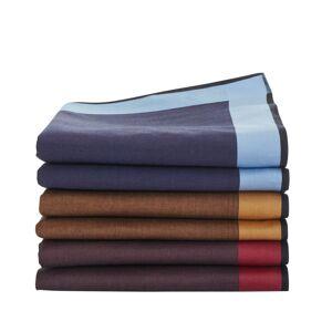 Blancheporte Pánské jednobarevné kapesníky, sada 6 nebo 12 ks modrá+bordó+kaštanová 12 ks