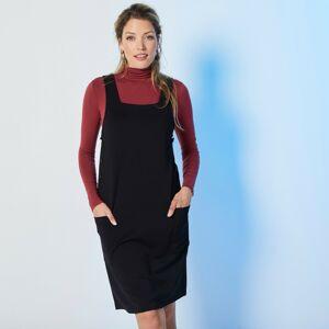 Blancheporte Jednobarevné šaty z úpletu Milano černá 34/36