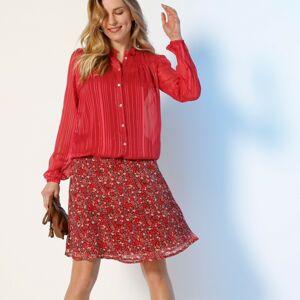 Blancheporte Áčková krátká sukně, voál s potiskem korálová 48