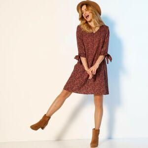 Blancheporte Rozšířené šaty s potiskem švestková 48