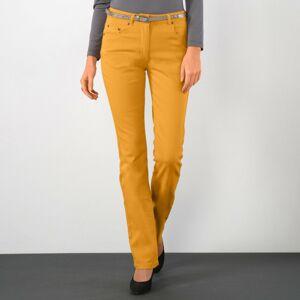 Blancheporte Strečové rovné kalhoty šafránová 36