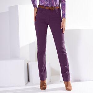 Blancheporte Zeštíhlující kalhoty, menší postava švestková 40