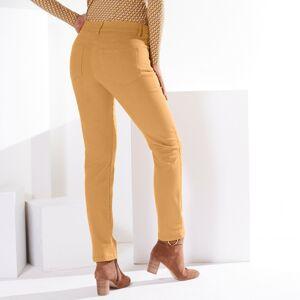 Blancheporte Zeštíhlující kalhoty, menší postava šafránová 48