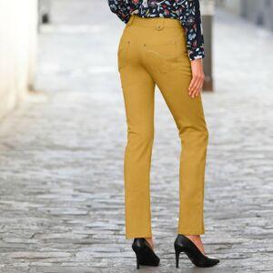 Blancheporte Rovné kalhoty s vysokým stahujícím pasem šafránová 46