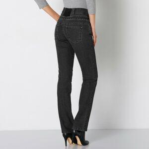 Blancheporte Rovné džíny s vysokým pasem černá 42