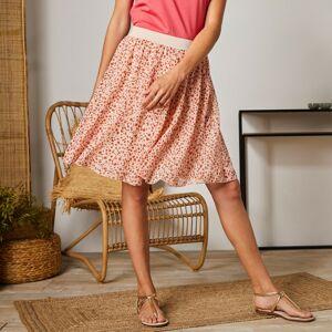 Blancheporte Krátká sukně s minimalistickým vzorem béžová/korálová 42/44