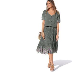 Blancheporte Polodlouhá sukně, potisk bronzová 42/44