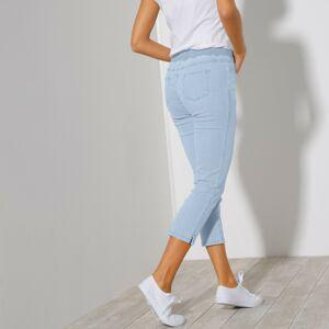 Blancheporte 3/4 džínové kalhoty s pružným pasem sepraná modrá 54