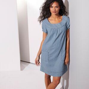 Blancheporte Džínové šaty sepraná modrá 46