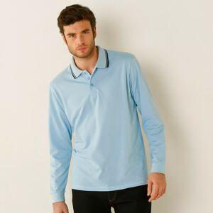 Blancheporte Polo tričko s dlouhými rukávy nebeská modrá 127/136 (3XL)