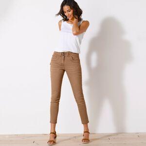 Blancheporte 7/8 barevné džíny hnědošedá 46