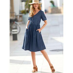 Blancheporte Džínové šaty s knoflíky denim 50