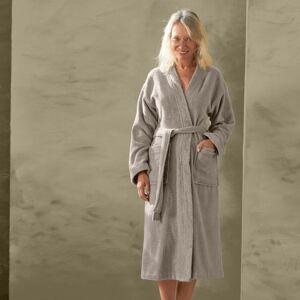 Blancheporte Župan s kimono límcem, bio bavlna hnědošedá 34/36