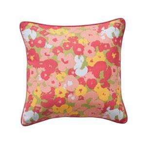 Blancheporte Povlak na polštářek s potiskem květů, sada 2 ks fuchsie/růžová 40x40cm