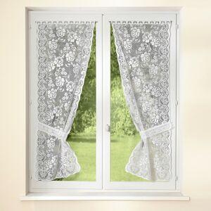 Blancheporte Krajková záclona, sada 2 ks bílá 60x120cm