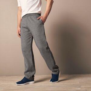 Blancheporte Volnočasové meltonové kalhoty šedý melír 72/74