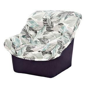 Blancheporte Potah na sedačku a křeslo s opěrkami, motiv peříček šedá křeslo