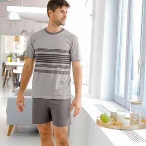 Blancheporte Pruhované pyžamo se šortkami šedá 87/96 (M)
