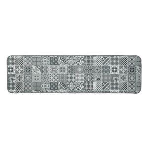Blancheporte Žakárový koberec s motivem kachliček šedá 50x200cm