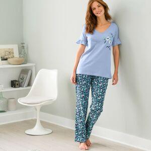 Blancheporte Pyžamo s volány a krátkými rukávy modrá 42/44