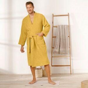 Blancheporte Jednobarevný župan s kimono límcem, pro dospělé osoby kari 54/56