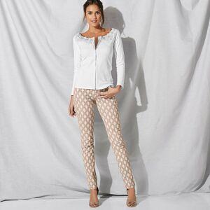 Blancheporte Kalhoty s potiskem písková/bílá 44