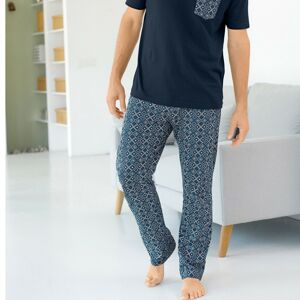 Blancheporte Pyžamové kalhoty s potiskem nám.modrá/modrá 64/66