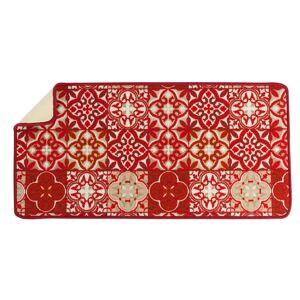 Blancheporte Kuchyňský kobereček, motiv dlaždice červená 50x140cm