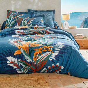 Blancheporte Povlečení Solange, bavlna nám.modrá napínací prostěradlo 90x190cm