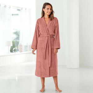 Blancheporte Župan s kimono límcem, bio bavlna růžové dřevo 50/52