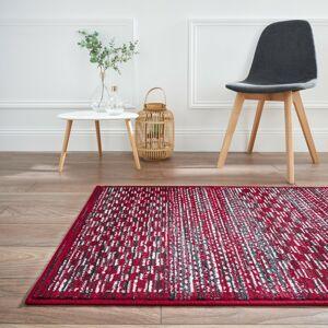 Blancheporte Melírovaný koberec švestková 60x110cm