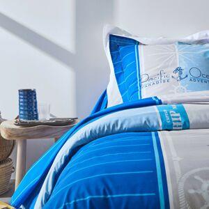 Blancheporte Povlečení Pacific, bavlna modrá povlak na polštář 65x65cm+lem