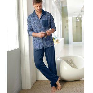 Blancheporte Pyžamo s kalhotami a dlouhými rukávy námořnická modrá 87/96 (M)