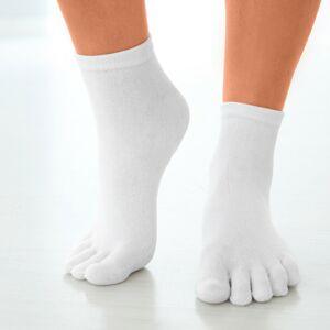 Blancheporte Ponožky s vytvarovanými prsty, 1 pár bílá pánské