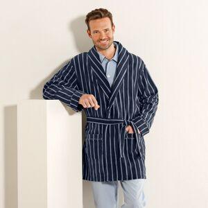 Blancheporte Domácí kabát z polar fleecu šedá proužky 127/136 (3XL)