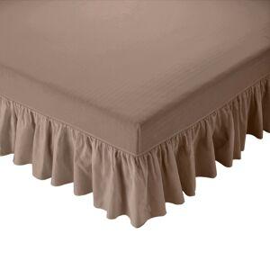 Blancheporte Přehoz na matraci s volánem hnědošedá 160x200cm