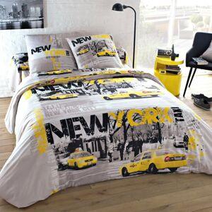 Blancheporte Povlečení Taxi New York, polybavlna šedá povlak na přikrývku 240x220cm