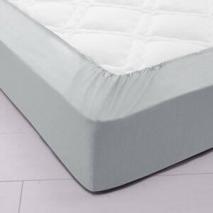 Blancheporte Jednobarevné napínací prostěradlo, polyester-bavlna, hloubka rohů 32 cm perlově šedá napínací prostěradlo 90x190cm