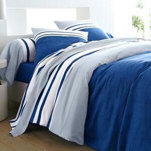 Blancheporte Povlečení Natálie, bavlna nám.modrá/nebeská modrá povlak na přikrývku 240x220cm