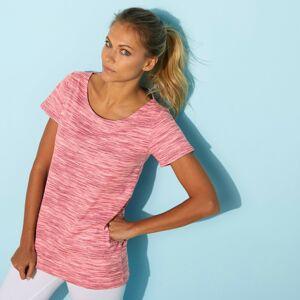 Blancheporte Melírované tričko s kulatým výstřihem růžová melír 46/48