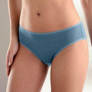Blancheporte Jednobarevné kalhotky midi, sada 10 ks modrá/růžová 36/38