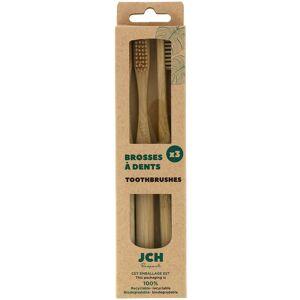 Blancheporte Bambusový kartáček na zuby, sada 3 ks sada 3ks
