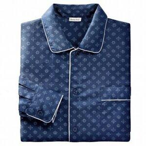 Blancheporte Prodloužený pyžamový kabátek s potiskem námořnická modrá 117/126 (XXL)