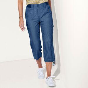 Blancheporte 3/4 denimové kalhoty s úpletový pasem denim 46