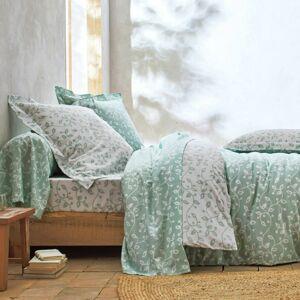 Blancheporte Povlečení Dědictví, bavlna zelená/bílá povlak na přikrývku 140x200cm