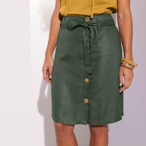 Blancheporte Vzdušná sukně na knoflíky, jednobarevná bronzová 48