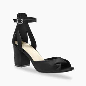 Blancheporte Sandály na podpatku, černé černá 37