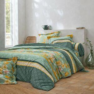 Blancheporte Povlečení Mélissa, bavlna zelená 70x90cm a 140x200cm(*)