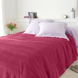 Blancheporte Jednobarevný taftový přehoz na postel, kvalita standard švestková 180x250cm